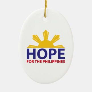 Hope For The Philippines Ceramic Oval Decoration