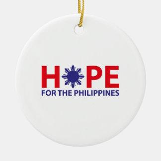 Hope For The Philippines Round Ceramic Decoration