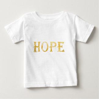 Hope Gold Text Baby Fine Jersey T-Shirt
