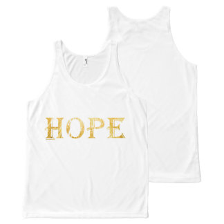 Hope Golden Text All-Over Printed Unisex Vest