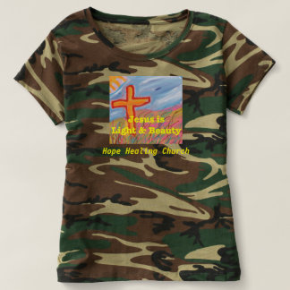 Hope Healing Church Christian Camouflage T-Shirt