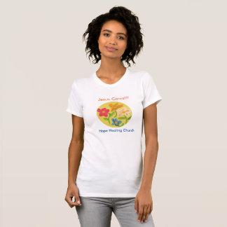 Hope Healing Church Christian Flower Women T-Shirt