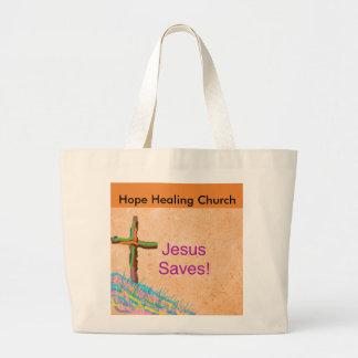Hope Healing Church Christian Jesus Saves Tote Bag
