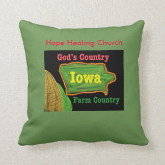 Hope Healing Church Iowa Farm God Throw Pillow