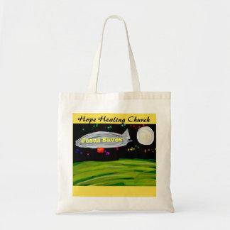Hope Healing Church Jesus Saves Christian Tote Bag