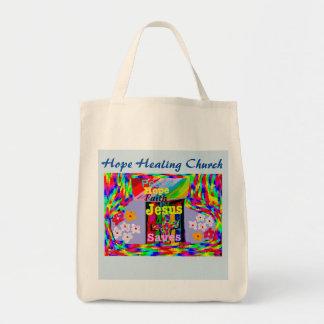 Hope Healing Church Jesus Saves Peace Tote Bag