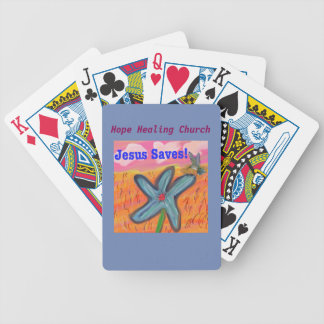 Hope Healing Church Jesus Saves Playing Cards