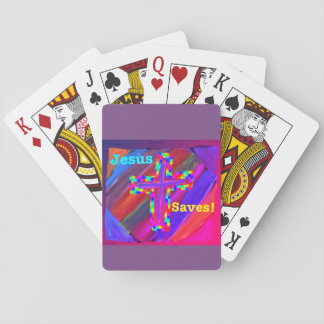 Hope Healing Church Jesus Saves Playing Cards
