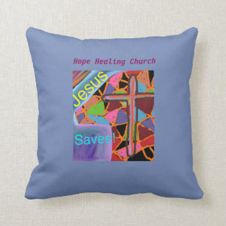 Hope Healing Church Jesus Saves Throw Pillow