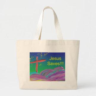 Hope Healing Church Jesus Saves Tote Bag