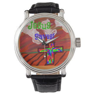 Hope Healing Church Jesus Saves Wrist Watch