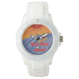 Hope Healing Church Jesus Surfing Silicon Watch