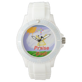 Hope Healing Church Praise God Silicon Wrist Watch