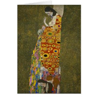 Hope II by Gustav Klimt Card