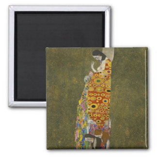 Hope II by Gustav Klimt Magnet