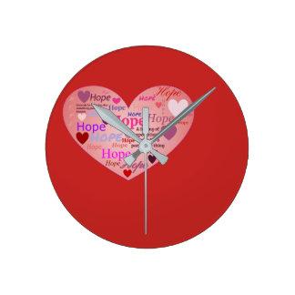 Hope in a Heart Clock