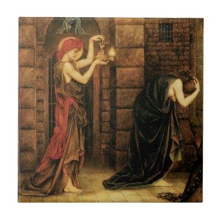 Hope in a Prison of Despair by Evelyn De Morgan Ceramic Tile