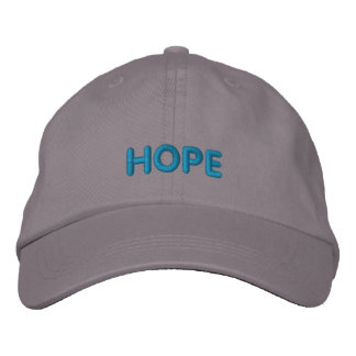 HOPE IN BOLD BLUE LETTERS BASEBALL CAP