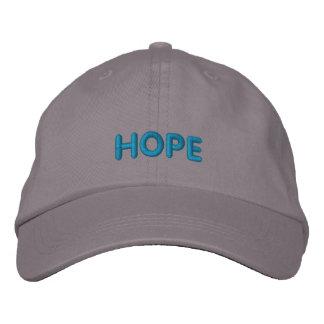 HOPE IN BOLD BLUE LETTERS BASEBALL CAP