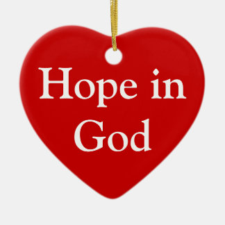 Hope in God ornament
