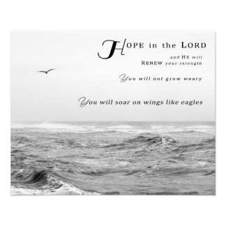 """""""Hope in the Lord"""" (20"""" x 16"""") Photo Print"""