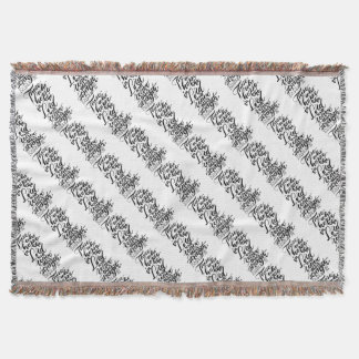 Hope in the Lord Brush Script Throw Blanket