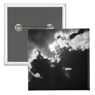 Hope in the silver lining of the clouds. 15 cm square badge