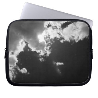 Hope in the silver lining of the clouds. computer sleeve