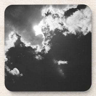 Hope in the silver lining of the clouds. drink coasters