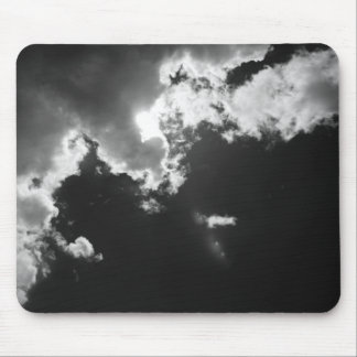 Hope in the silver lining of the clouds. mouse pad
