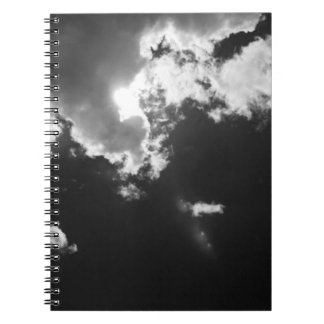 Hope in the silver lining of the clouds. notebooks