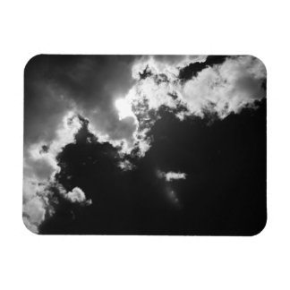 Hope in the silver lining of the clouds. rectangular photo magnet