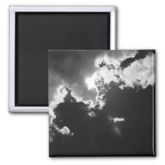 Hope in the silver lining of the clouds. square magnet