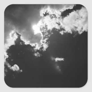 Hope in the silver lining of the clouds. square sticker