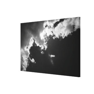 Hope in the silver lining of the clouds. stretched canvas print