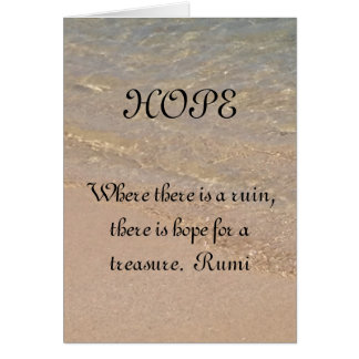 HOPE Inspiration Card Rumi Quote Hawaii