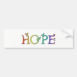 HOPE Inspirational Message Bumper Sticker