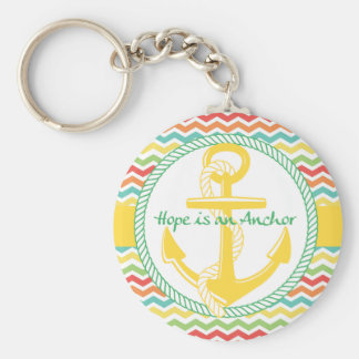 Hope is An Anchor Nautical Zigzag Keychains