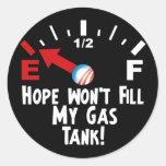 Hope is on Empty - Anti Barack Obama Round Stickers