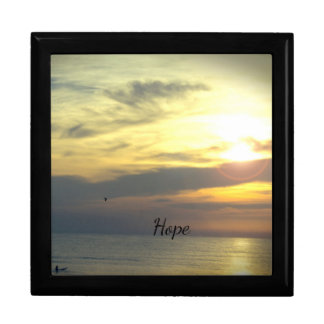 """Hope is on the Horizon"" Large Square Gift Box"