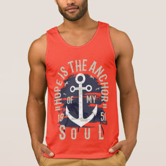 Hope is the Anchor Men's Cotton Tank Top