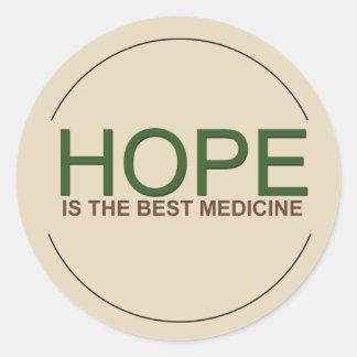 Hope is the best medicine classic round sticker