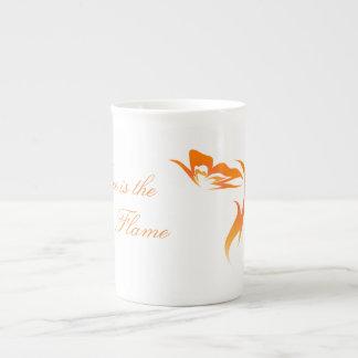 """Hope is the Flame"" Butterfly Bone China Mug"