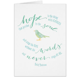 Hope is the thing with feathers Quote Card