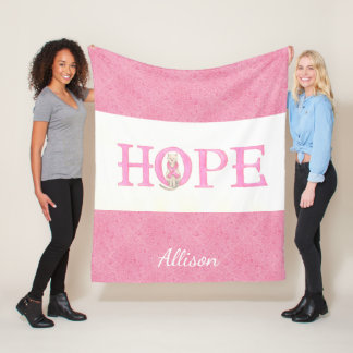 Hope Kitty Personalized Fleece Blanket