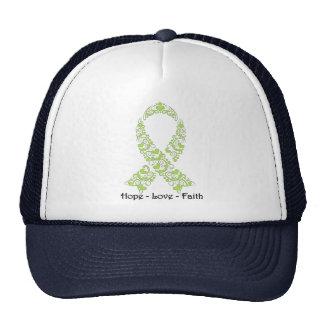 Hope Lime Green Awareness Ribbon Cap