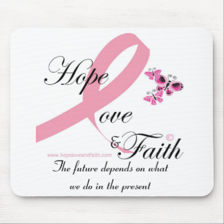 Hope love and faith mousepad