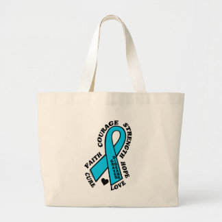 Hope Love Cure...Graves' Large Tote Bag