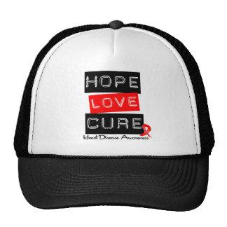 Hope Love Cure Heart Disease Trucker Hat