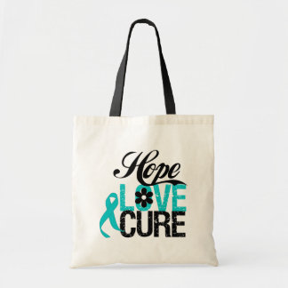Hope Love Cure OVARIAN CANCER Gifts Budget Tote Bag